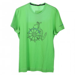 T SHIRT IN COTONE VERDE CON STAMPA