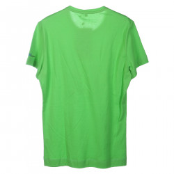GREEN COTTON T SHIRT WITH PRINT