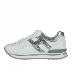 WHITE AND SILVER GLITTERY SNEAKER