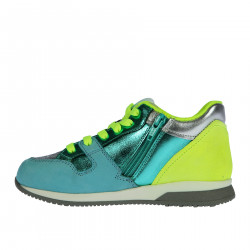 HIGH LIGHT BLUE WATER AND YELLOW FOSFORESCENT SNEAKER