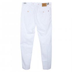 WHITE PANTS WITH MICROPATTERN
