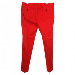 RED COTTON PANTS