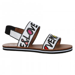 PEACE AND LOVE WHITE SANDAL