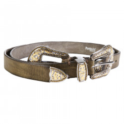MILITARY GREEN LEATHER BELT