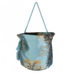 LIGHT BLUE ORIENTAL PRINTED BAG