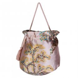 PINK ORIENTAL PRINTED BAG