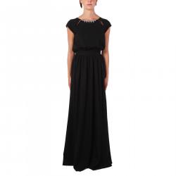 BLACK DRESS WITH STONES