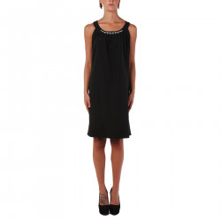 BLACK SLEEVELES DRESS
