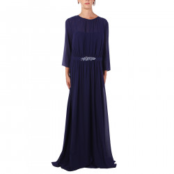VIOLET DRESS WITH STONES INSERT