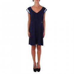 BLUE DRESS WITH PAILLETTES