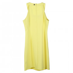 YELLOW DRESS WITH STONES INSERT