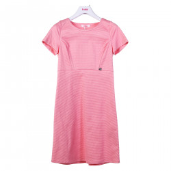 PINK DRESS WITH SHORT SLEEVES