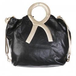 ERRE DOUBLE FACE BLACK AND GREY BAG