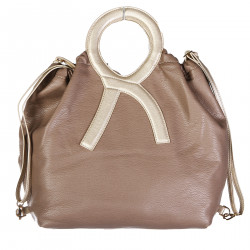ERRE DOUBLE FACE BEIGE AND BROWN BAG