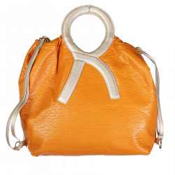 ERRE DOUBLE FACE ORANGE AND YELLOW BAG