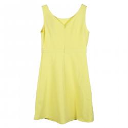 YELLOW SLEEVELES DRESS