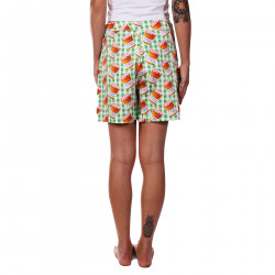 GREEN SQUARE SHORTS IN MARMELADE JARS FANTASY