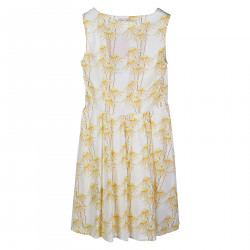 YELLOW DRESS IN FLOWERS FANTASY