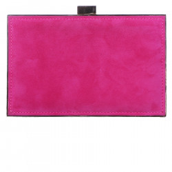 FUXIA SUEDE SHOULDERBAG WITH APPLICATIONS