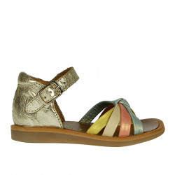 COLORED LEATHER SANDALS