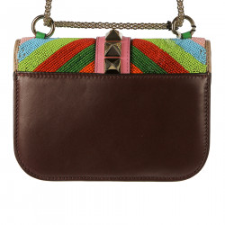 MULTICOLOR SHOULDRBAG WITH STUDS