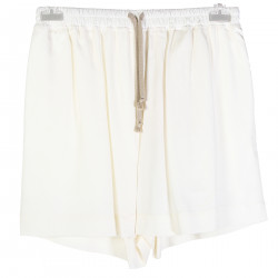 WHITE VISCOTE SHORTS