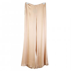 LIGHT PINK SILK PANTS