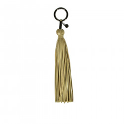 BEIGE KEYCHAIN WITH FRINGES