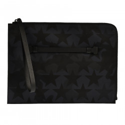 POCHETTE WITH STARS PRINT ON CAMOUFLAGE BACKGROUND