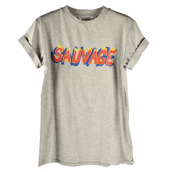 GREY T SHIRT WITH WRITTEN