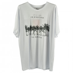 WHITE T SHIRT WITH PRINT