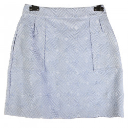 LIGHT BLUE AND SILVER WITH ELEVATION FABRIC