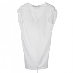 T SHIRT IN COTONE BIANCO CON ROUGE