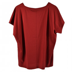 BORDEAUX ROUND NECK T SHIRT WITH PRINT