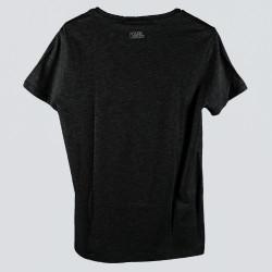 BLACK ROUND NECK T SHIRT WITH PRINT