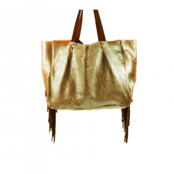 GOLD GLOSSY LARGE BAG