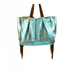 LIGHT BLUE GLOSSY LARGE BAG