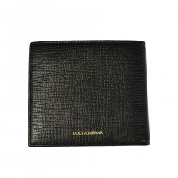 BLACK LEATHER WALLET WITH APPLICATION