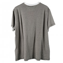 T SHIRT A RIGHE IN COTONE