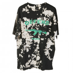 FANTASY BLACK T SHIRT WITH GREEN PRINT