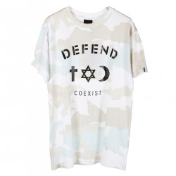 CAMOUFLAGE T SHIRT WITH BLACK PRINT