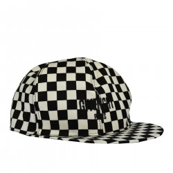 BLACK AND WHITE CHECKERED CAP