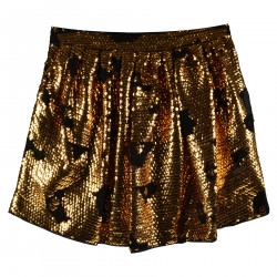 BLACK SKIRT WITH GOLD PAILLETTES