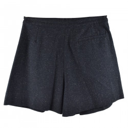 SHORTS MELANGE BLUE NAVY