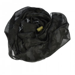 BLACK CAMOUFLAGE SCARF WITH STARS