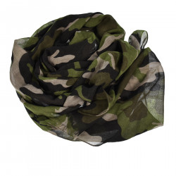 CAMOUFLAGE SCARF WITH FRINGES