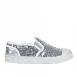 SLIP ON IN PAILLETTES ARGENTO