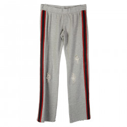 GREY TRACKSUIT PANTS WITH CONTRASTING PROFILE