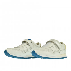 WHITE LEATHER SNEAKER WITH STRAP
