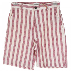 COTTON AND LINEN SHORTS